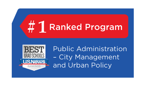 Ranked #1 in 2019 KU's public administration program among the best in the nation.