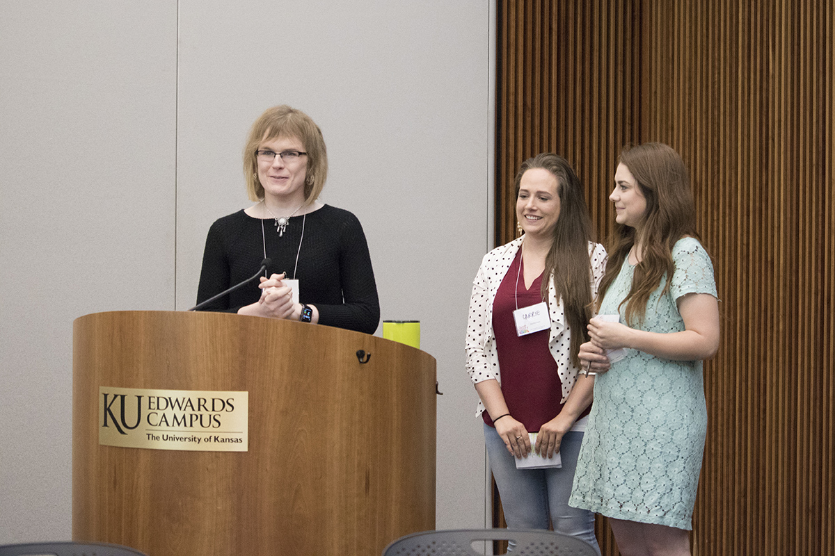 Anna Pope, Ph.D., psychology academic program associate and long-term lecturer, and her students, Ashley Worley and Carrie Sutherland, share their research on transgender stereotypes.